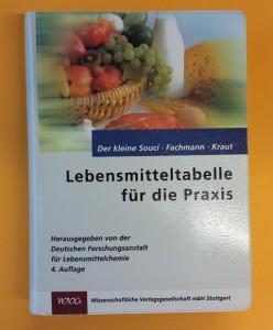 Buch Lebensmittel-Tabelle