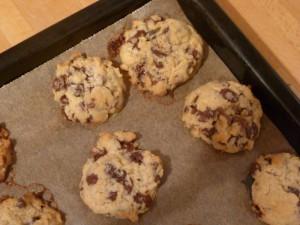 Biscotti natalizi alla canella con gocce di cioccolata