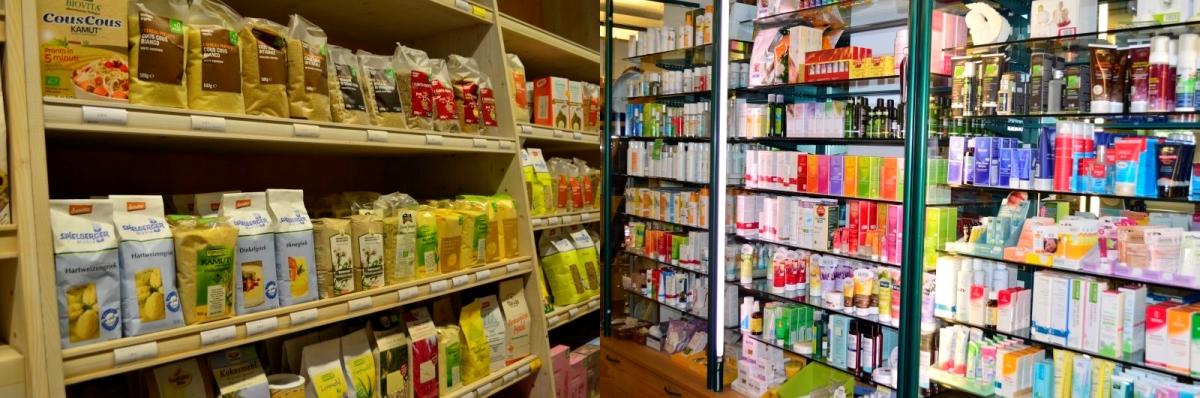 Regale: Lebensmittel - Kosmetik